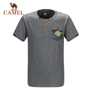 camel骆驼户外休闲短袖圆领T恤 春夏男款百搭简约T恤