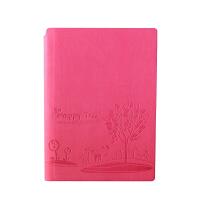 SCM至尚・创美 V32K061 商务笔记本A5记事本 玫红色 1本装 学生日记本厚本子 当当自营