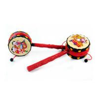 儿童玩具拨浪鼓 手摇铃宝宝 婴儿玩具0-3-6-12个月