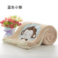 珊瑚绒小毛毯被子女盖腿双层冬季单人加厚儿童小毯子午睡毯办公室y