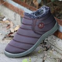 丰永聚2018冬保暖棉鞋软底水老北京棉鞋毛口二棉手工雪地靴35-46 M403咖 39