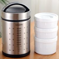 保温饭盒 12小时加厚长保温1人便携学生保暖饭盒保温三层