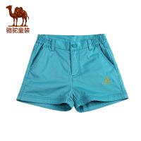 骆驼童装 夏季短裤儿童裤子男童女童中大童休闲短裤
