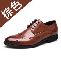 2019春季新款男士商务皮鞋休闲男鞋头层牛皮正装鞋子男单鞋
