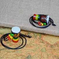 非洲鼓迷你挂件1.5寸小鼓项链饰品