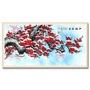 中国美术家协会会员、国家一级美术师 李子涵《红梅报春》DYP57
