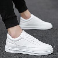 小白鞋韩版百搭男士运动板鞋2018新款男鞋子青少年简约休闲鞋潮鞋