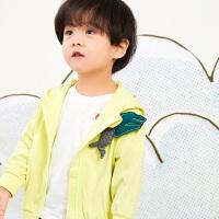【秒杀价:212元】马拉丁童装男小童外套春装2020新款拼接撞色卫衣运动儿童外套