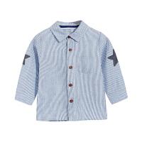 男童衬衫长袖 宝宝上衣儿童春装男婴儿衬衣