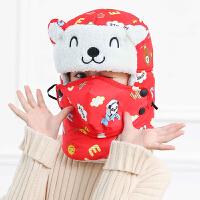 儿童雷锋帽冬季东北加绒加厚保暖护耳小孩帽子儿童款韩版可爱百搭