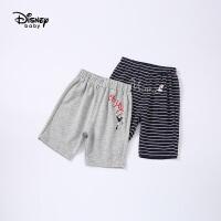 【2件3折价:38.7元,可叠券】迪士尼宝宝快乐星球女童针织可爱中裤夏季新品