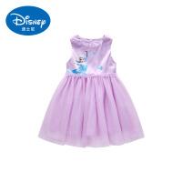 迪士尼冰雪奇缘艾莎公主裙女童连衣裙2019新款夏季网纱裙洋气裙子