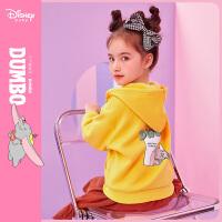 【3折�A估�r:76元】迪士尼女童�B帽童�b外套2020春秋新款�����和�卡通印花洋�馍弦鲁�