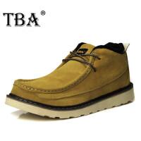 TBA雪地靴英伦加绒男靴保暖短靴男士真皮靴子工装靴高帮男鞋6008