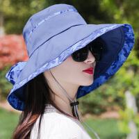 帽子女夏大沿遮阳帽遮脸时尚百搭折叠沙滩凉帽防晒太阳帽