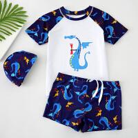 儿童泳衣男童中大童分体游泳衣宝宝男孩泳裤套装小孩泳装