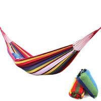 户外用品 旅行旅游用品单人小双人吊床加厚帆布吊床 野营吊床秋千