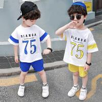 男宝宝夏装纯棉男童短袖套装夏季儿童运动休闲两件套