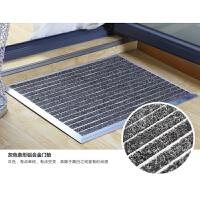 家用防尘地进门不锈钢脚垫商用酒店除尘门垫定制垫子qPP 灰色 商用壁厚 2.0毫米(高度2厘米)
