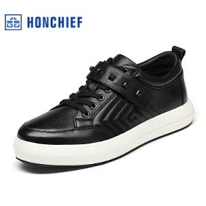 红蜻蜓旗下品牌HONCHIEF男鞋休闲鞋秋冬鞋子男板鞋 KTA1217