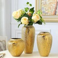 金色家居装饰品摆件花瓶客厅电视柜酒柜摆设软装