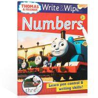 顺丰包邮 英文原版进口 【可擦写】托马斯和朋友们系列Thomas Wipe & Write Numbers 数字 低幼