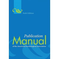 Publication Manual of the American Psychological Associatio