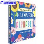英文原版 Mrs. Peanuckle's Flower Alphabet 彼勒芙夫人的花儿字母表 科普百科 儿童认知