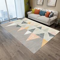 地毯卧室家用风客厅长方形沙发茶几垫房间几何简约床边毯定制 乳白色 如图12款