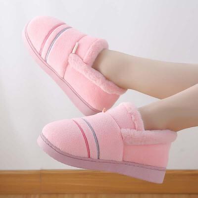 秋冬季室内家居棉拖鞋全包跟男女情侣厚底保暖毛绒月子棉鞋大码