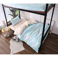 大学生宿舍单人床上用品三件套装床单0.9m被套寝室六件套被褥j定制 乳白色 18 欢乐小鹿 0.9m宿舍床 三件套