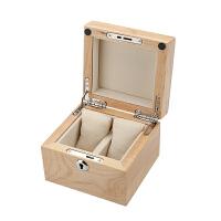 红樱桃木实木制手表盒子手串链展示收藏收纳盒箱两只装