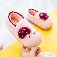 儿童棉拖鞋包跟1-3岁2男童女童秋冬季室内小孩宝宝小童棉鞋家居鞋