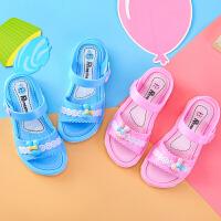 女童凉鞋夏季沙滩鞋儿童塑料凉鞋防滑软底儿童公主鞋
