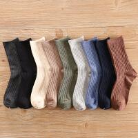 袜子男中筒袜秋季线吸汗男士潮短秋冬款高帮黑色商务长袜