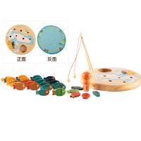 儿童蒙氏早教1-2-3一岁女宝宝钓鱼玩具男孩磁性套装蒙特梭利