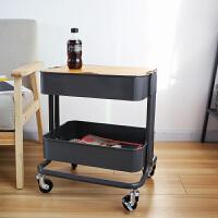 北欧铁艺小推车茶几可移动边几沙发边桌多功能储物桌迷你电脑桌