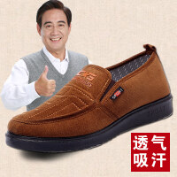 老北京布鞋男单鞋中老年加宽加大码爸爸鞋秋季软底老人父亲鞋
