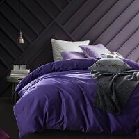 当当优品60贡缎长绒棉四件套-贵妇紫适用于1.8-2.0床
