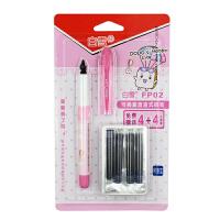 Snowhite/白雪 可换囊直液式钢笔FP02/粉色笔杆 可擦蓝色墨水小学生钢笔儿童组合套装三四年级字帖练字用开学文