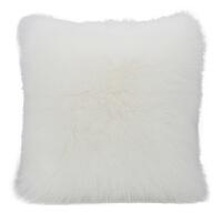 公主灰粉色少女心兔抱枕套ins风长毛绒靠垫沙发床头可爱靠枕 50x50cm 枕套+枕芯