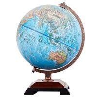 家居办公高清立体教学地球仪摆件 学生用创意中英地理浮雕32cm地球仪