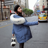 【秋冬新品】高端专柜品牌很仙的好看的棉衣女中长款2019新款韩版显瘦棉袄冬装大毛领加厚外套潮