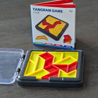 脑力大作战七巧板智力拼图小学生儿童几何积木蒙氏早教益智类玩具