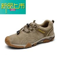新品上市冬季户外登山鞋男士牛筋底运动休闲鞋真皮防滑徒步旅游鞋男棉鞋子