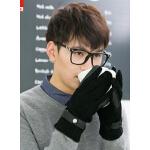 男韩版休闲骑车手套保暖手套 手套男士保暖手套