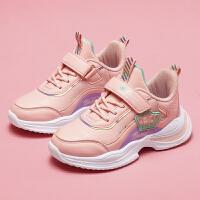 【1件2折折后�r:56元】富�F�B童鞋女童鞋秋冬款2021年新款中大童鞋子�和��\�有�女孩跑步鞋