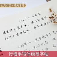 手写体行楷硬笔临摹练字帖成人学生女生练字小楷速成描红钢笔字帖.