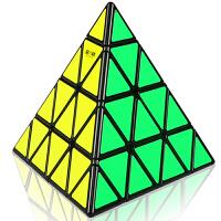 奇艺魔方格 四阶金字塔魔方 专业高阶难度异型4阶金字塔异形玩具