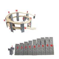 EDWONE木制积木轨道场景配件 兼容木制托马斯火车组合配件 官方标配
